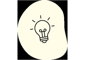 Lightbulb icon on yellow background